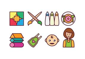 Conjunto grátis de ícones do bebê vetor