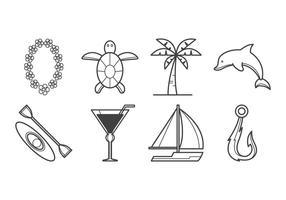Vetor de ícone da ilha tropical livre