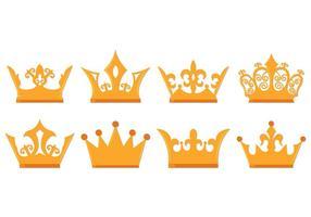 Coroa de estilo de luxo vetor