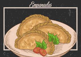 Ilustração das empanadas fritas vetor
