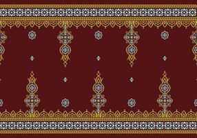 Songket rumpak pattern free vector