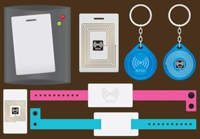 Acessórios RFID vetor