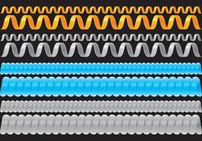 Cabos Slinky vetor