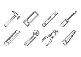 Vetor livre de ícones de ferramentas de carpinteiro