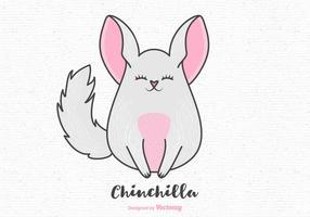 Desenhos animados Chinchilla Vector