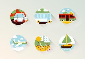 Ícones do vetor de transporte