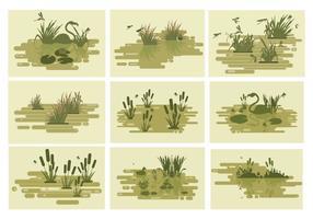 Free Swamp Lakes Ilustração vetorial vetor