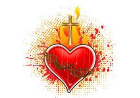Ilustração do vetor do coração sagrado