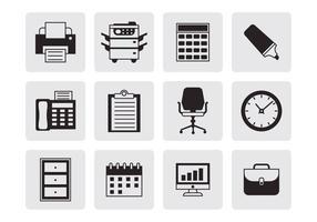Vetor de ícones de escritório grátis