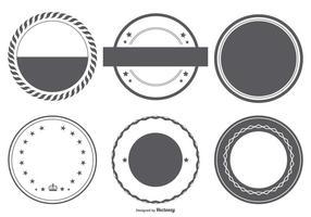 Coleção de formas de emblema de vetores