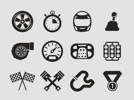 Vector de ícones do carro de corrida grátis