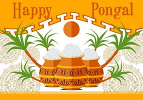 Ilustração feliz do vetor de Pongal