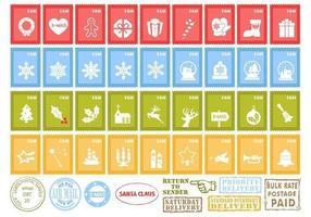 Pacote de vetores de selo de Natal