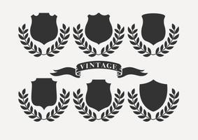 Etiquetas retro do vintage vetor
