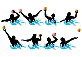 Vetor de ícones do water polo grátis