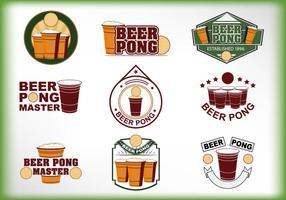 Vector de etiqueta beer pong