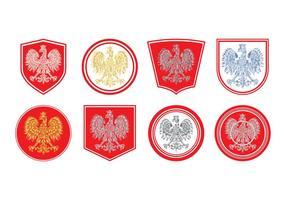 Vector de brasão polonês grátis