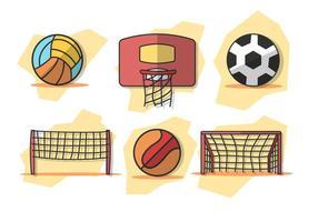 Vetor netball grátis