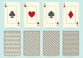 Desenhos de cartas de jogo vetor