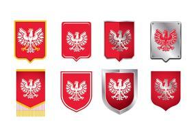 Armas nacionais da América Polônia Águia vetor