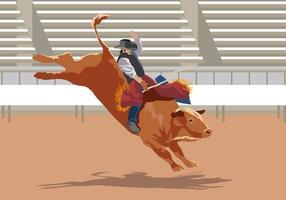 Desempenho Bull Rider vetor