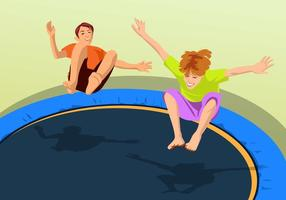 Saltitando em um trampolim