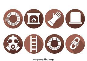Vetor de ícones de elementos de varredura de chaminé