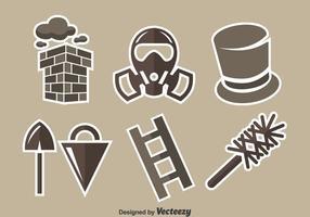 Conjunto de vetores do elemento de varredura de chaminé