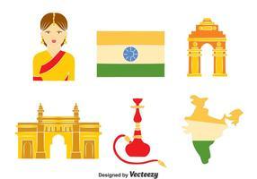 Vetor elemento da Índia