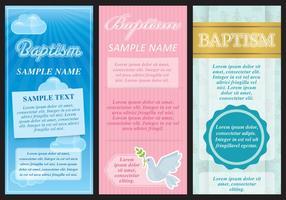 Folhetos do baptismo vetor