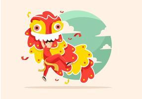 Vector de dança do leão