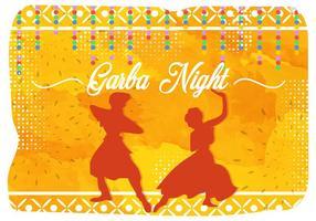 Ilustração de Garba Night India Party vetor