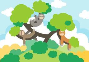 Vector de preguiça de desenhos animados grátis