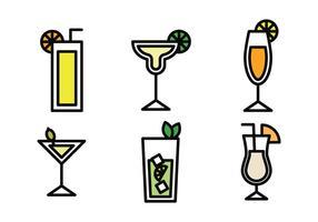 Bebidas Ícones Esboçados vetor