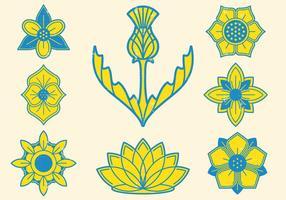 Emblema Floral vetor