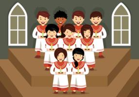 Coro das crianças vetor