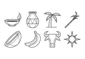 Vetor grátis para ícones Pongal