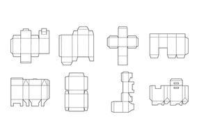 Vector de modelo de embalagem livre