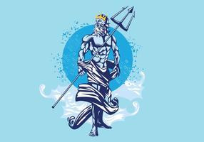 Ilustração vetorial de Poseidon vetor