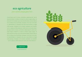 Modelo de página da Agro vetor