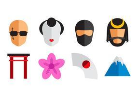 Vetor de ícone japonês grátis