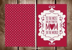 Cartão bonito do dia das mães vetor