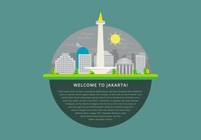 Ilustração de Monas Jakarta vetor