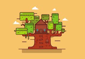 Vetor de casa de árvore grátis