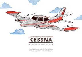 Fundo gratuito de Cessna vetor
