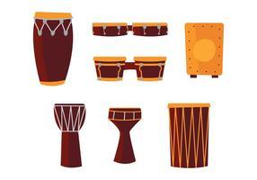 Tambores africanos vetor