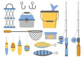 Vetor de ícones de pesca livre