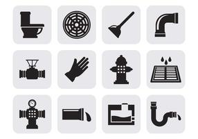Vetor de ícones de saneamento gratuito
