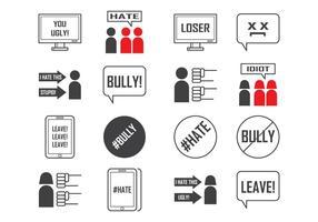 Vector de ícones Social e Cyber Bullying grátis