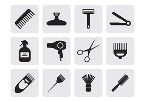 Vector de ícones de cabeleireiro gratuito